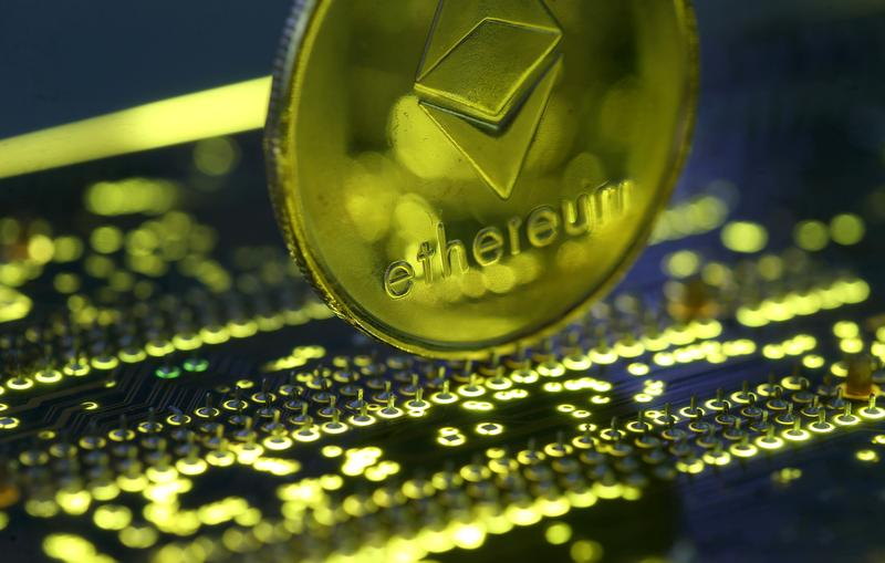 Cryptocurrency Ethereum hits record high, lifted by bitcoin, institutional demand