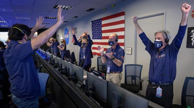 """""""Touchdown confirmed!"""": NASA celebrates as Perseverance rover lands on Mars"""